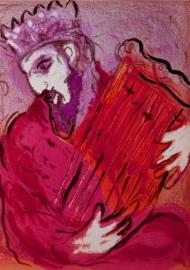 King David singing psalms