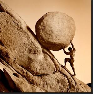 The futility of Sisyphus's life